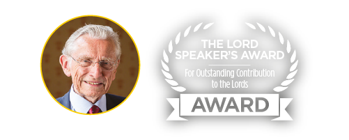 Lord Fowler Judge of The Lord Speaker's Award for Outstanding Contribution to the Lords
